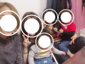 顔隠し加工「丸」実際の画像