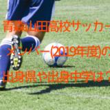 青森山田高校サッカーメンバー(2019年度)の出身県は?出身中学も調査