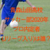 青森山田高校サッカー部2020年プロ内定者(Jリーグ入り)は誰?