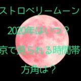 ストロベリームーン2020年はいつ?東京で見られる時間帯や方角も調査!