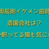 村雨辰剛イケメン庭師の造園会社は?住所や飼ってる猫も気になる!
