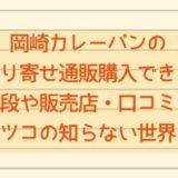 岡崎カレーパンのお取り寄せ通販購入できる?値段や販売店・口コミも【マツコの知らない世界!】